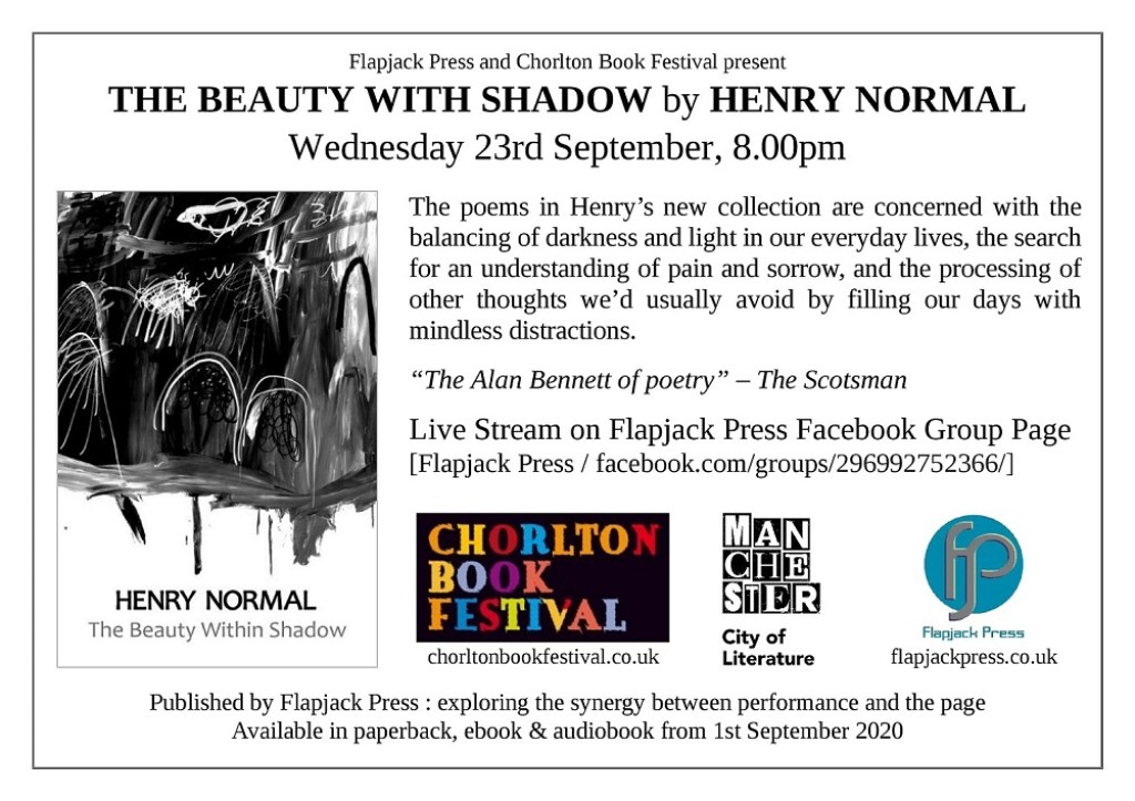 Henry Normal Book Tour at the Virtual Chorlton Book Festival