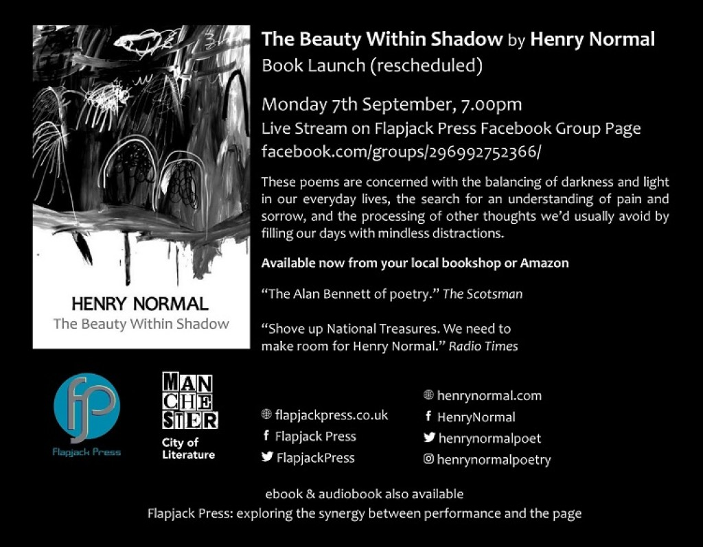 Book launch: The Beauty Within Shadow by Henry Normal