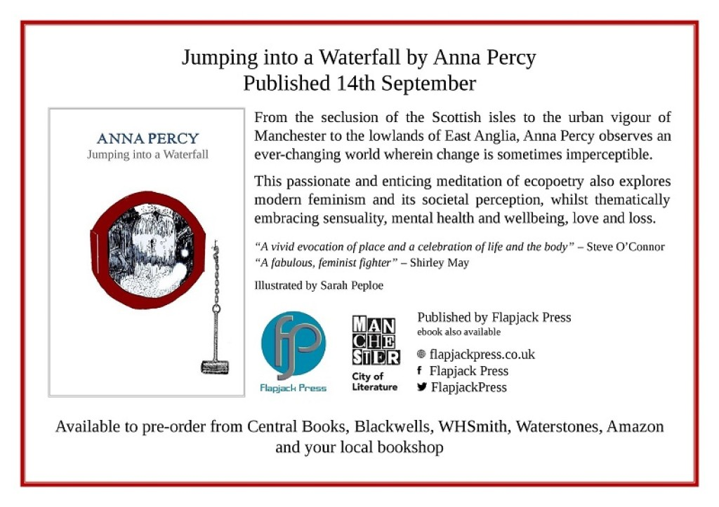 Coming soon: Jumping into a Waterfall by Anna Percy