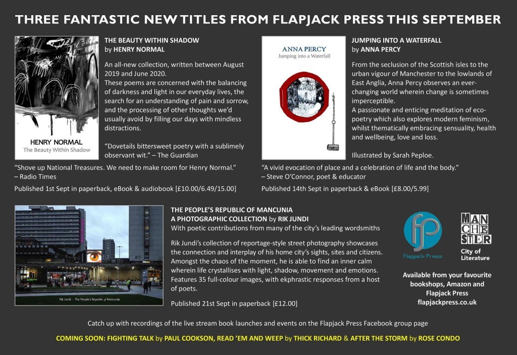 New Titles this September from Flapjack Press