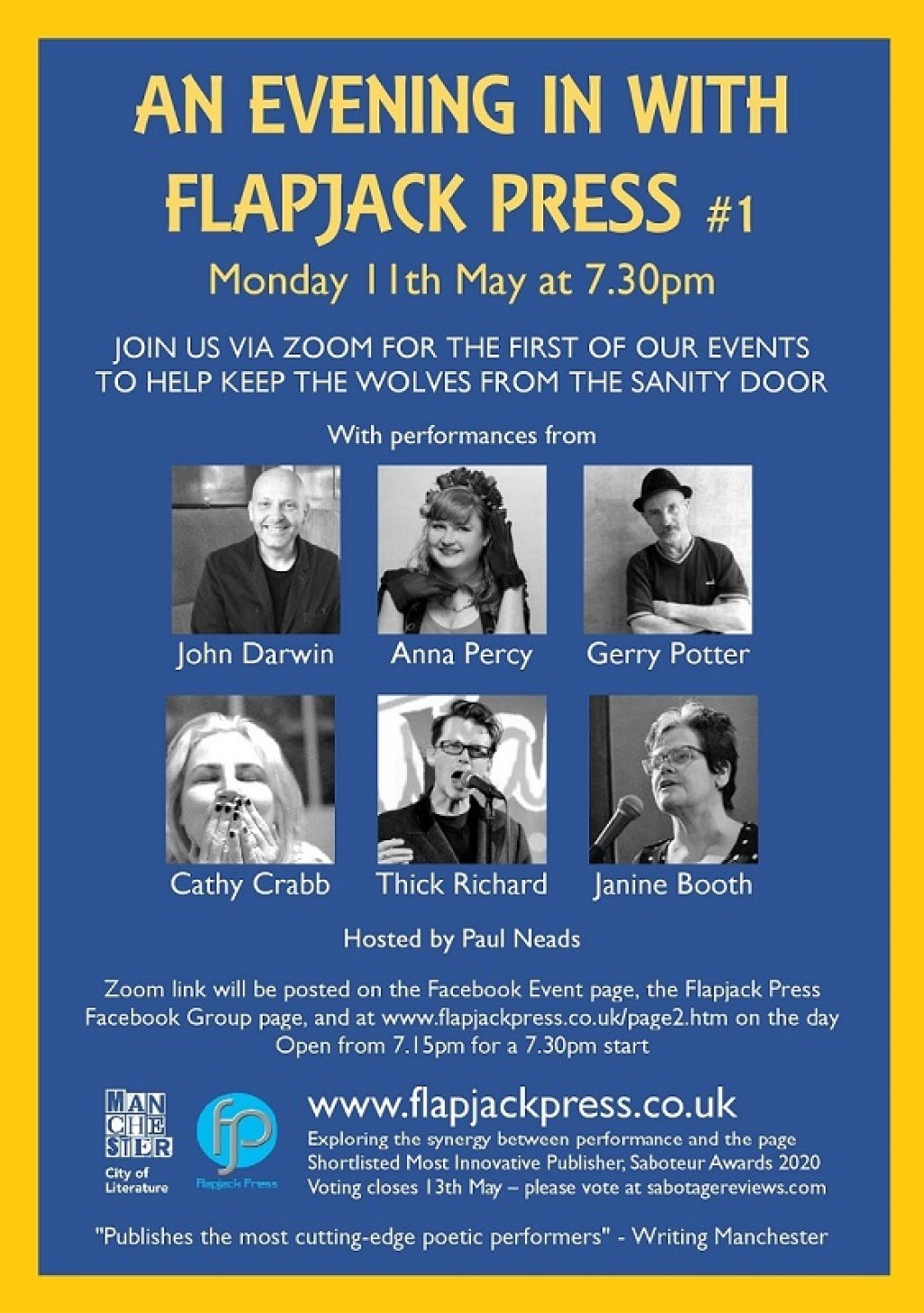 An Evening In with Flapjack Press #1