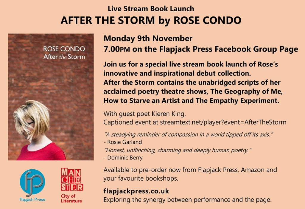 Book Launch: After the Storm by Rose Condo, 9th November