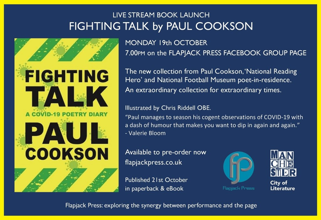 Book Launch: Fighting Talk by Paul Cookson, 19th October