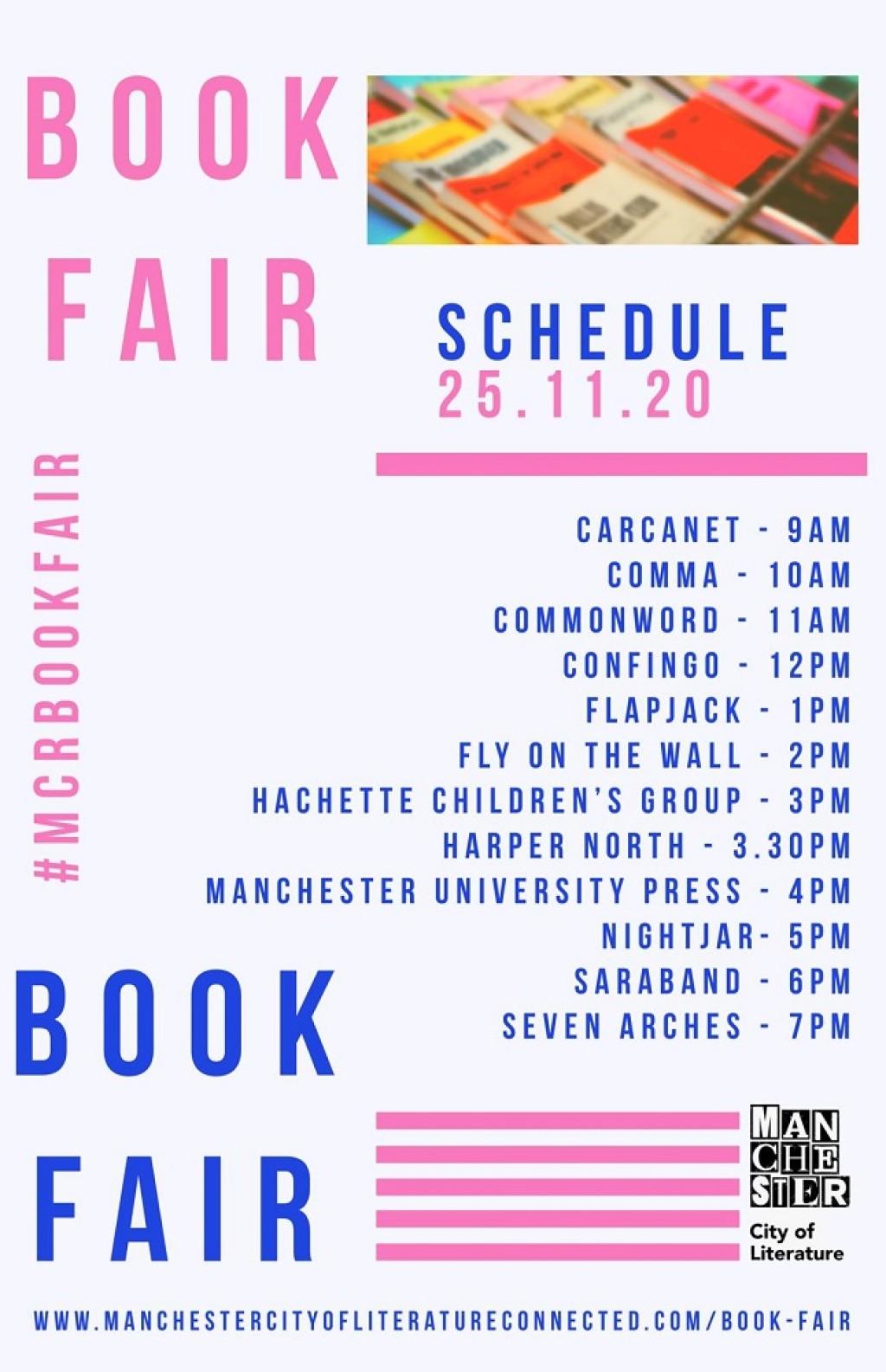 Manchester City of Literature Online Book Fair, November 25th: Flapjack Press @ 1pm