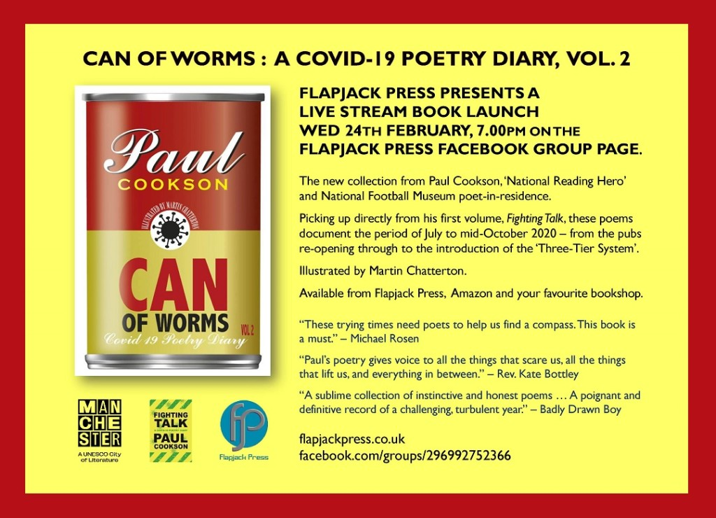 Live Stream Book Launch: CAN OF WORMS by PAUL COOKSON