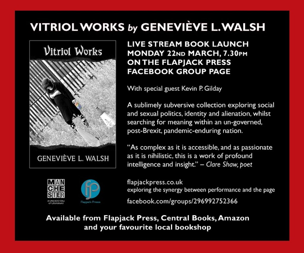 Book Launch: Vitriol Works by Geneviève L. Walsh, 22nd March