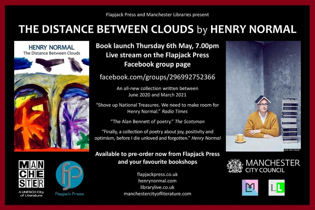 Book launch: The Distance Between Clouds by Henry Normal, 6th May