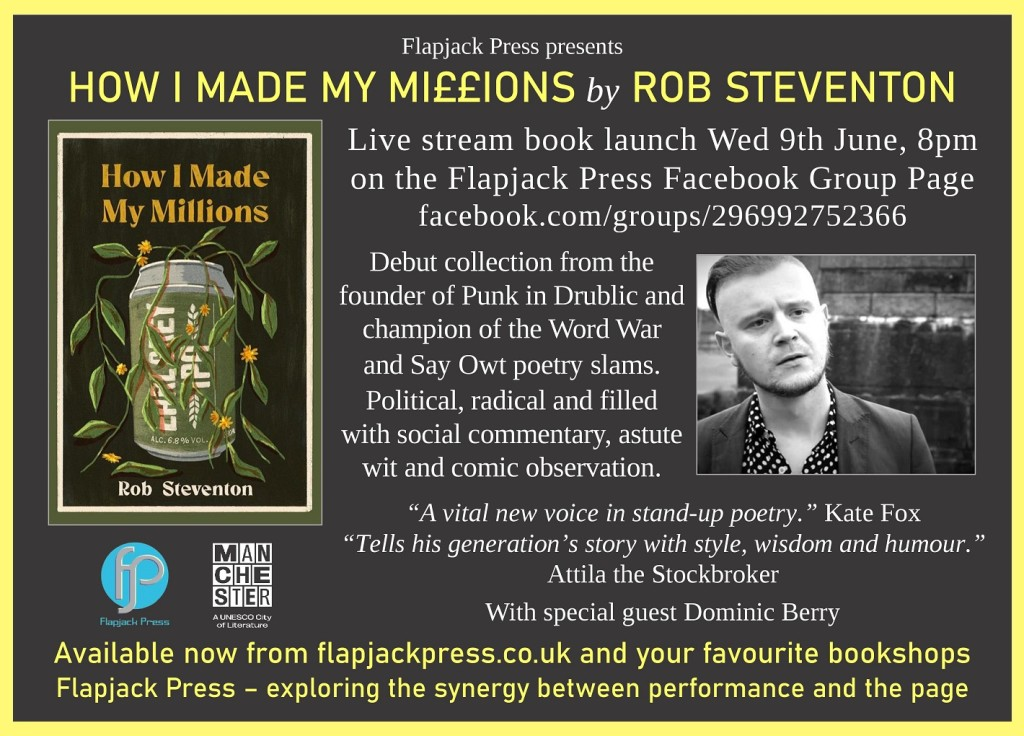 Book Launch: How I Made My Millions by Rob Steventon, 9th June
