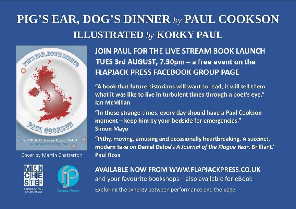Book Launch: Pig's Ear, Dog's Dinner by Paul Cookson, 3rd August