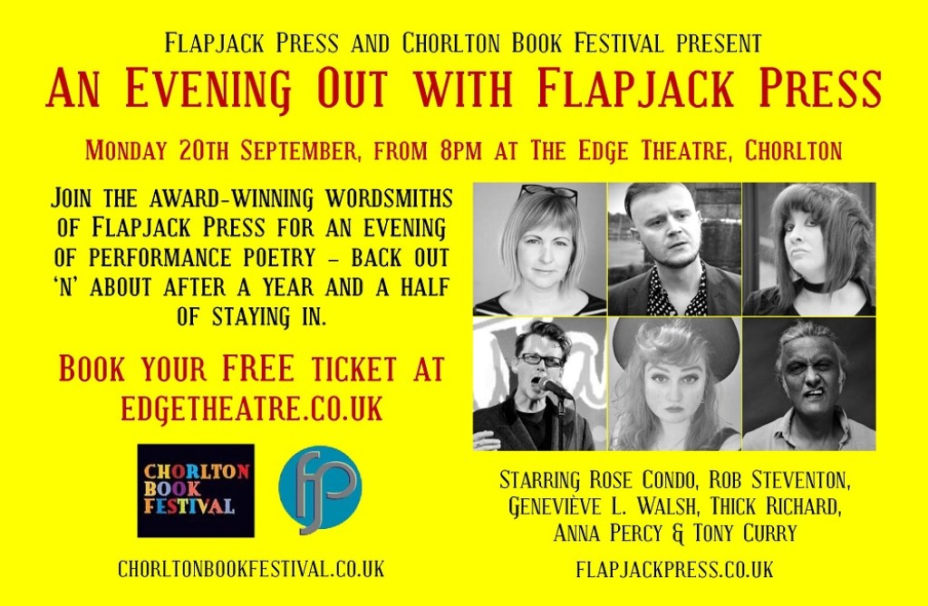 An Evening Out with Flapjack Press: 20th Sept